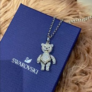 Swarovski Crystal 3D Movable Teddy Bear Necklace